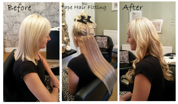 Tape hair extensions sandbach cheshire la hairvolution 18 full head tape hair using 3 colours this method is fantastic for thin pmusecretfo Image collections